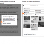 11 Notification wireframes